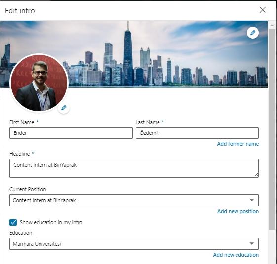 Etkili Linkedin Profili