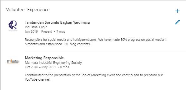 Etkili Linkedin Kullanımı Gönüllü Deneyimler